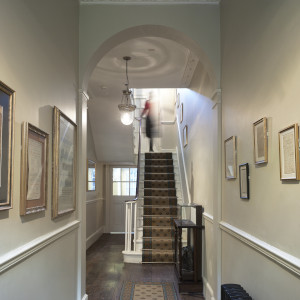 Entrance hall and stairs contents